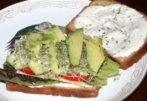 Bleu Cheese Veggie Sandwich