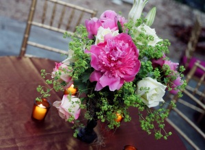 Flowers on tables