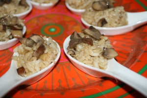 Appetizer Mushroom Risotto