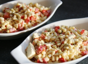 Baked Corn and Peppers
