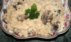 Starch Brown rice risotta mushroom