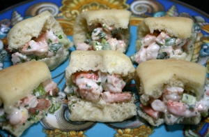 Appetizer Shrimp salad Sliders