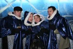Absolute Ice Bar.  It was a busy Thanksgiving Night!