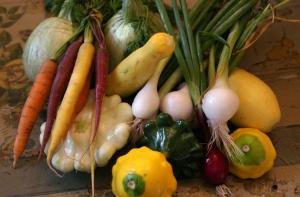 CSA box 3 veggies