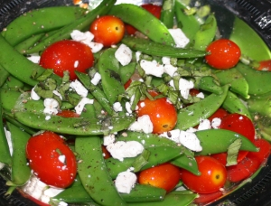 Vegetables Sugar Snaps and Goat Cheese OO