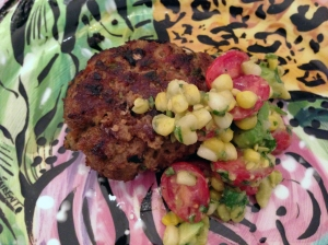 The Salad on Side of Salsa Burger