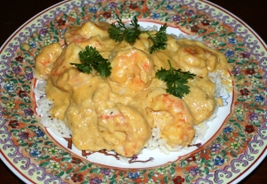 Entree Seafood Curried Shrimp II
