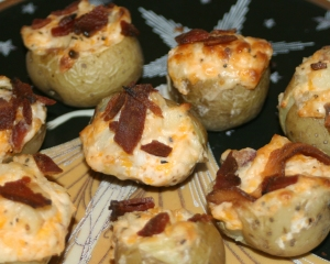 Here are the taters with bacon!