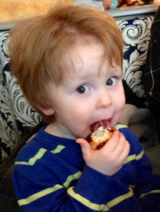 Liam and Puritan's Boston Cream Donut, Yummy!