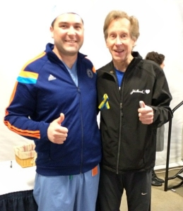 Bill Rodgers, 4 time Boston Marathon winner, stopped by MGH Wednesday to encourage all of the runners!