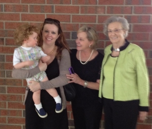 3 Mothers. 2 Daughters. 1 Son. 1 Grandson. 1 Great Grandson.