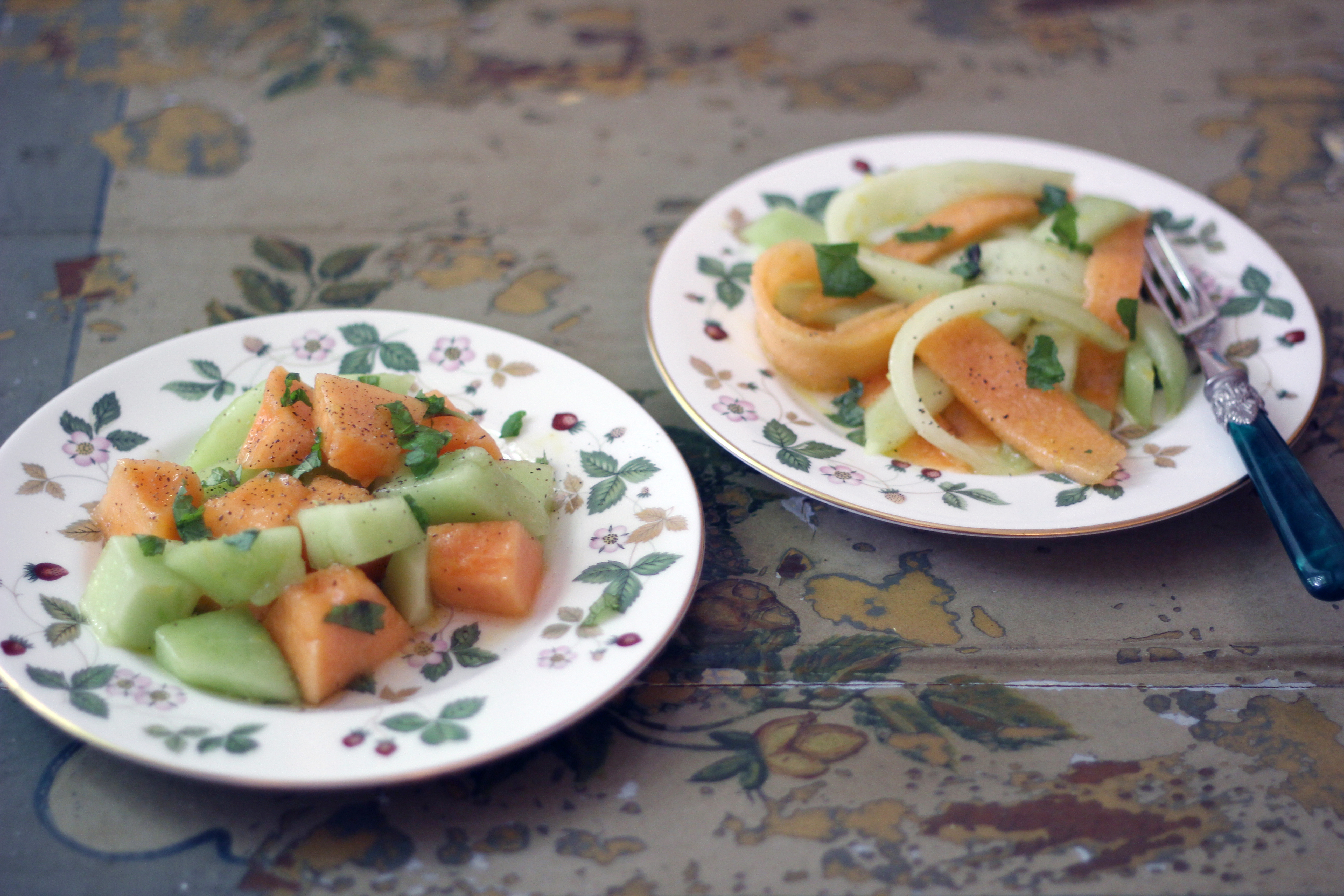 how to cut honeydew for fruit salad