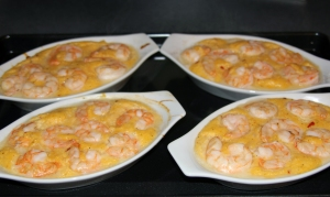 Shrimp and Grits Baking Sheet