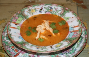 With Thai Chili Sauce, stirred into Soup...Spicy!