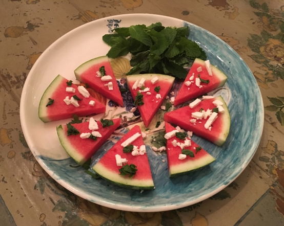 Appetizer Watermelon Feta Mint