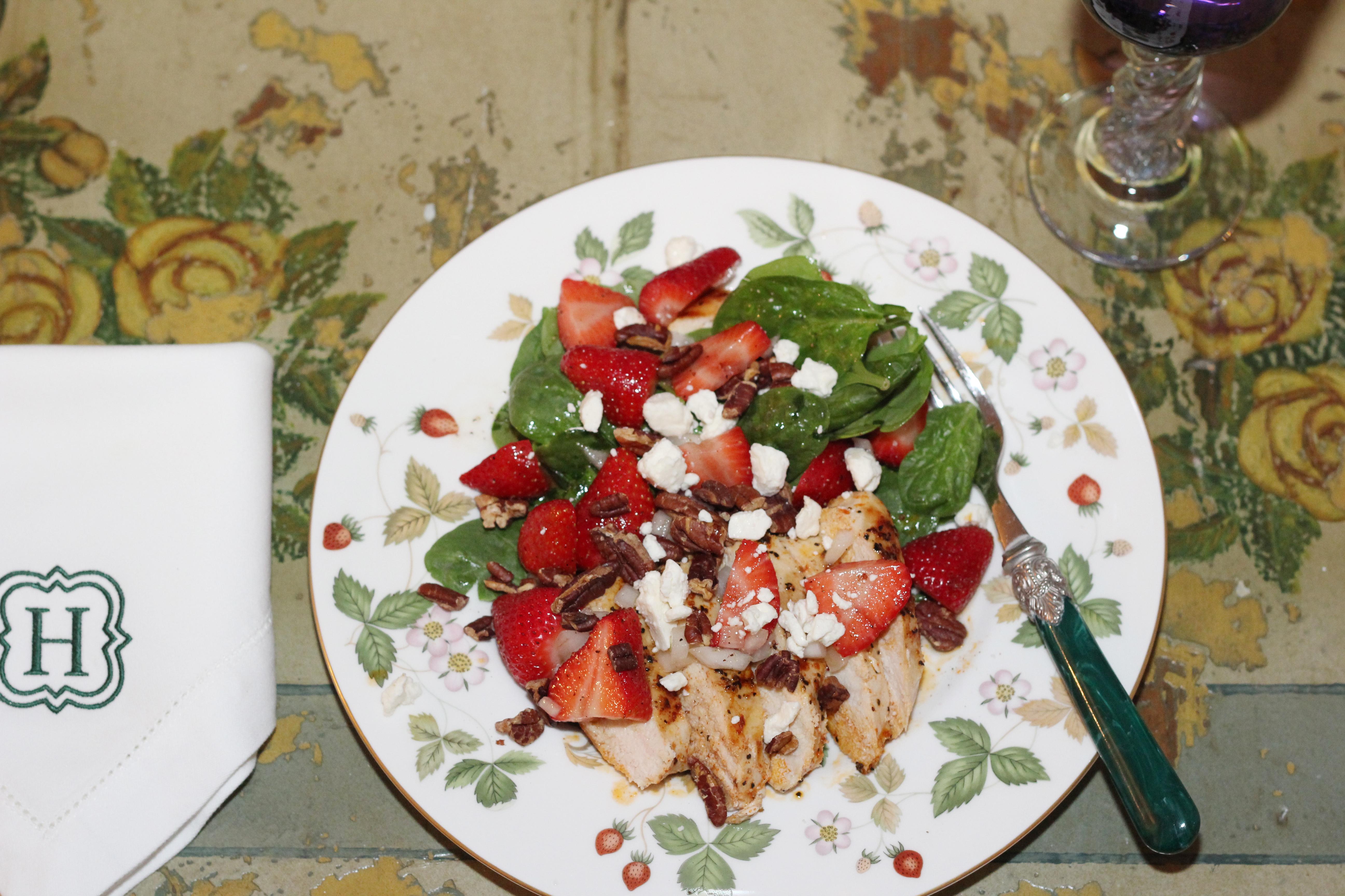 Entree Salad Strawberry Chicken