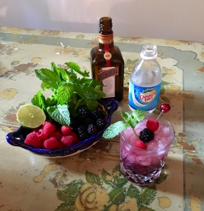 Adult Beverage Berry Cointreau Rickey