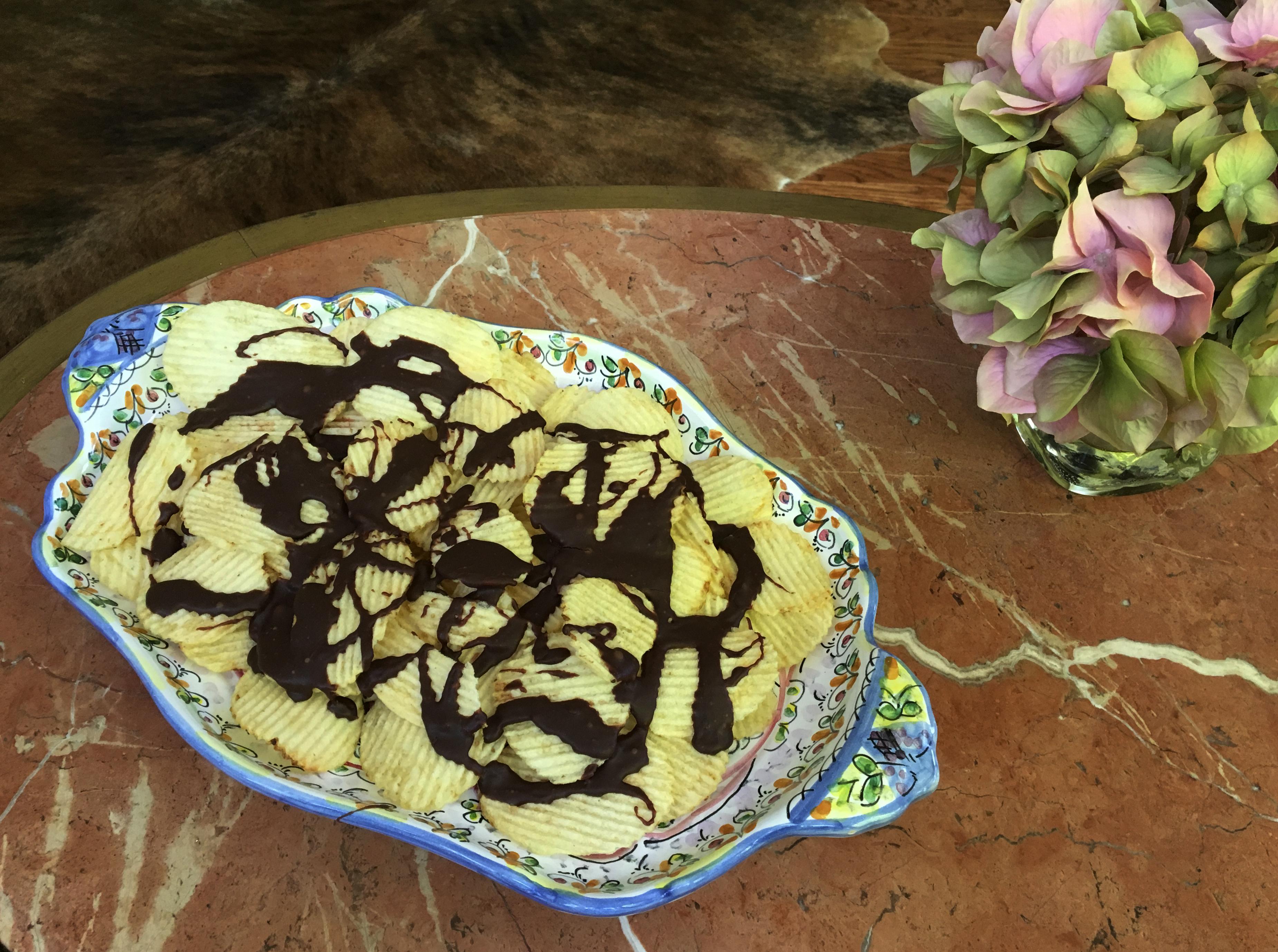 Snack Chocolate Potato Chips