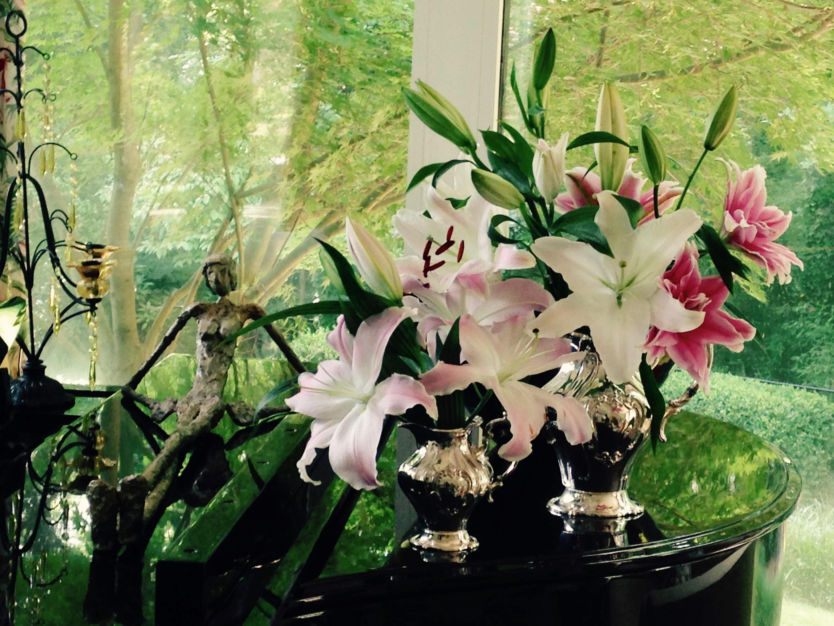 lilies-in-silver-service-ii