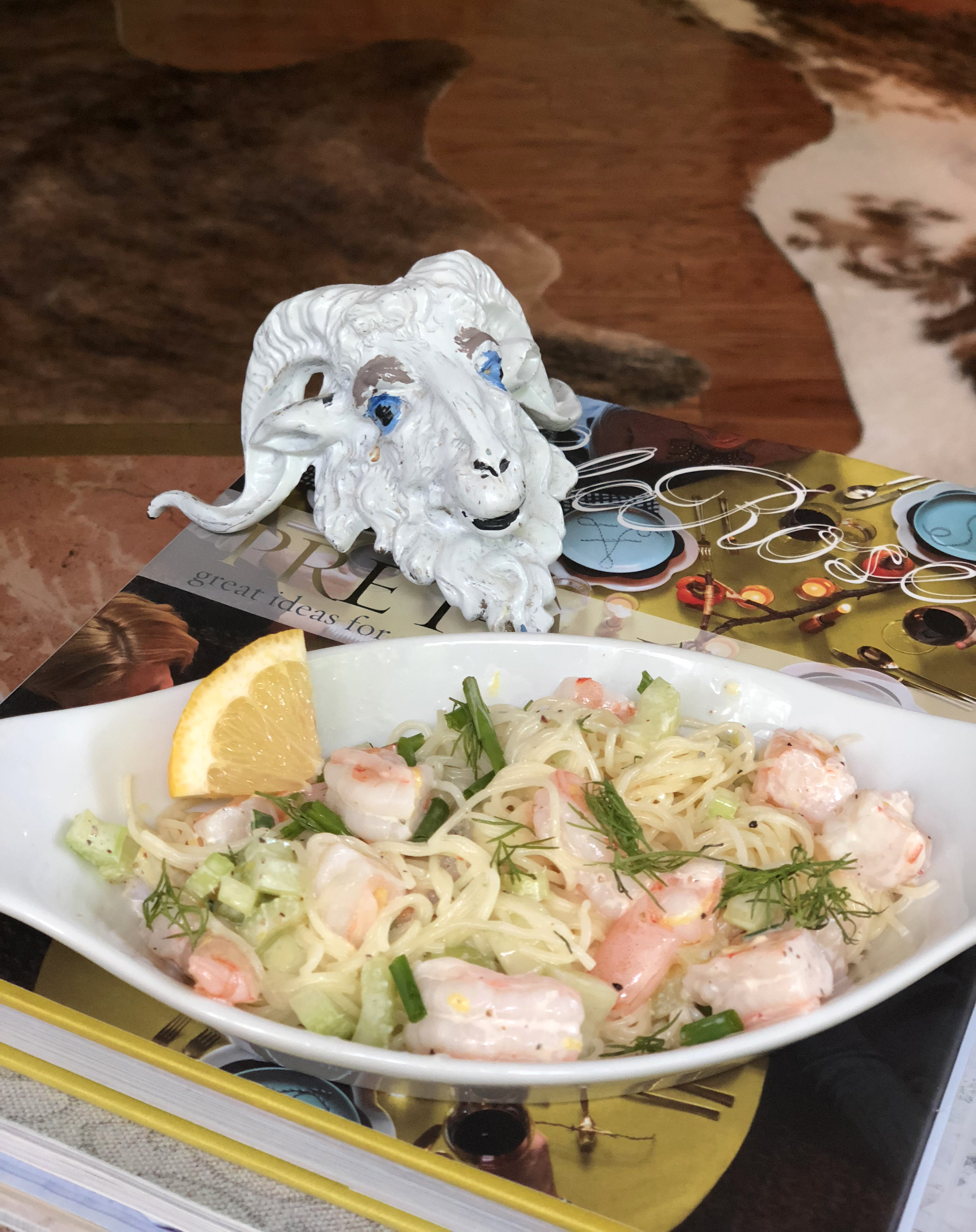 Entree Seafood Lemony Shrimp Scampi